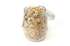 Oatmeal in a jar Royalty Free Stock Photo