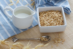 Breakfast of oats Royalty Free Stock Photos