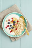 Breakfast oats with berries royalty free stock images