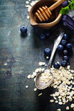 Breakfast with oats and berries Royalty Free Stock Photo