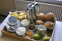 Breakfast in Odense, Denmark, August 2006 Stock Photo