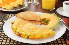 Breakfast omelet Stock Image