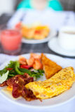 Breakfast with omelet Royalty Free Stock Image