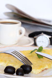Breakfast With Omelette Royalty Free Stock Photography