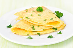 Breakfast omelette with herbs Stock Photography