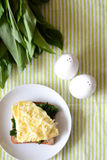 Breakfast with omelette Stock Photography