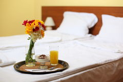 Breakfast On A Bed Royalty Free Stock Image