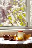 Breakfast On The Sunny Kitchen Stock Photos