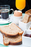 Breakfast with orange Royalty Free Stock Photography