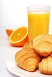 Breakfast with orange juice Stock Photo