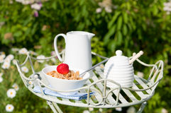 Breakfast Outdoor Royalty Free Stock Images