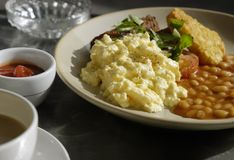 Breakfast outdoor cafe Royalty Free Stock Photography