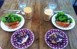 Breakfast pæleo Stock Photography