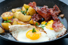 Breakfast In A Pan Royalty Free Stock Photo