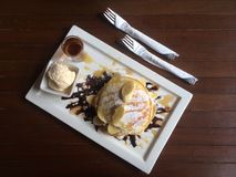 Breakfast Pancake. From Chiangmai Thailand Stock Photo