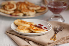 Breakfast with pancakes Royalty Free Stock Photos