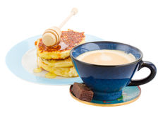 Breakfast with pancakes Stock Photography