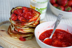 Breakfast pancakes Royalty Free Stock Images