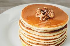 Breakfast of pancakes Stock Photo