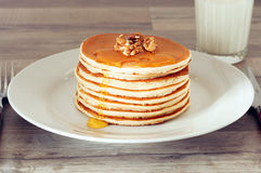 Breakfast of pancakes Royalty Free Stock Photography