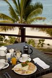 Breakfast in paradise Royalty Free Stock Images