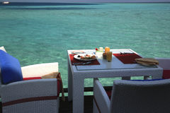Breakfast on a paradise island Royalty Free Stock Image