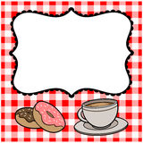 Breakfast Party Invite Royalty Free Stock Images