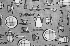 Breakfast pattern background royalty free stock photos