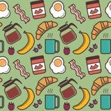 Breakfast pattern Royalty Free Stock Image