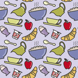 Breakfast pattern Royalty Free Stock Images