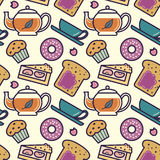 Breakfast pattern Stock Photo