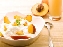 Breakfast in Peach colors Stock Photo