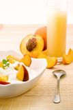 Breakfast in Peaches colors Stock Photography