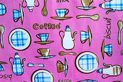 Breakfast pink pattern background royalty free stock photos