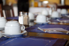 Breakfast place setting Stock Photo