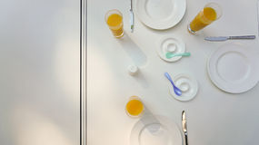 Breakfast place setting  Royalty Free Stock Images
