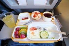 Breakfast in plane royalty free stock image