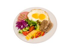Breakfast in a plate Royalty Free Stock Images