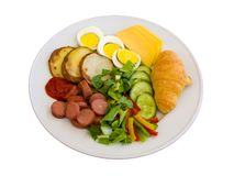 Breakfast in a plate Stock Images