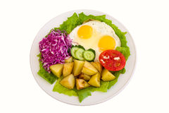 Breakfast in a plate Royalty Free Stock Photo