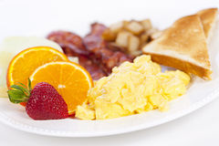 Breakfast plate Stock Image