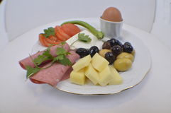 Breakfast_Plate Immagine Stock Libera da Diritti