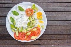 Plate breakfast Stock Image