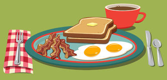 Breakfast plate Stock Images