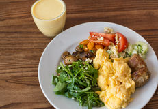 Breakfast plate with healthy food Royalty Free Stock Photos