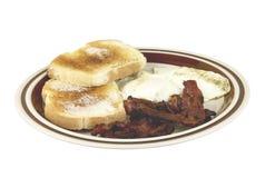 Breakfast plate isolated Stock Photo