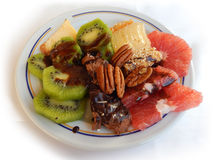 Breakfast plate with sweets Stock Photo