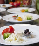 Breakfast plates Stock Images