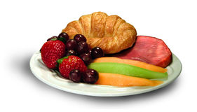Breakfast Platter. A platter full of breakfast food stock photography
