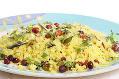 Breakfast poha Stock Photo